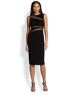 ABS Lace- Inset Jersey Dress