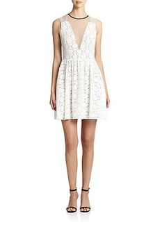 ABS Lace Illusion Dress