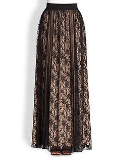 ABS Lace-Panel Skirt
