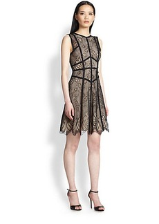 ABS Lace Seam-Detail Dress