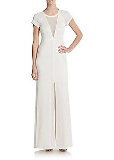 ABS Mesh-Front Jersey Gown