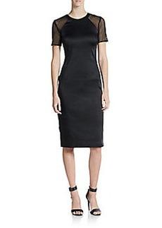 ABS Mesh-Panel Sheath Dress