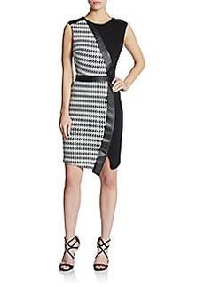 ABS Mixed Media Paneled Dress