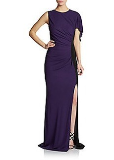 ABS Open-Back Asymmetrical Gown