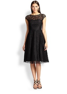 ABS Open-Back Lace Dress