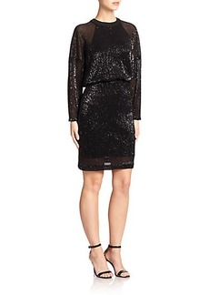 ABS Sequined Dolman Dress