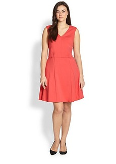 ABS, Sizes 14-24 Fit-&-Flare Dress