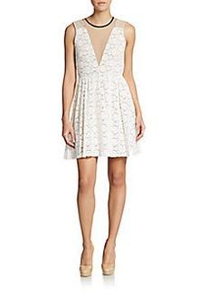 ABS Sleeveless Lace Dress