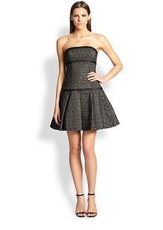 ABS Strapless Bustier Dress