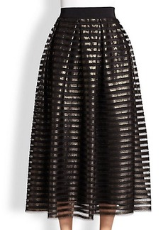 ABS Striped Metallic Skirt