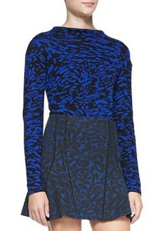 Abstract Printed Mock-Neck Pullover   Abstract Printed Mock-Neck Pullover