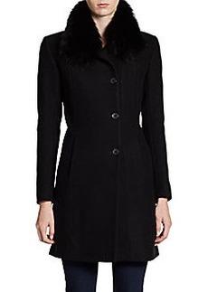 Andrew Marc Posh Fur Collar Coat