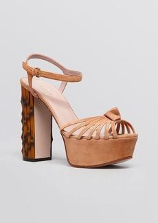 Gucci Isabeau High Heel Platform Knot Sandal