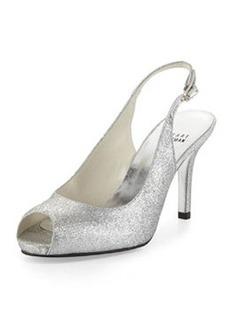 Litely Glitter Slingback Sandal, Silver   Litely Glitter Slingback Sandal, Silver