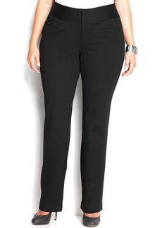 INC International Concepts Plus Size Straight-Leg Ponte Pants