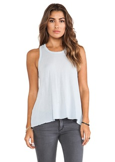 James Perse Crepe Jersey A Line Tank in Baby Blue