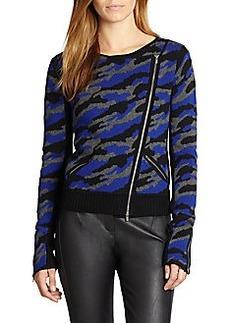 Diane von Furstenberg St. Regis Camo Wool Sweater