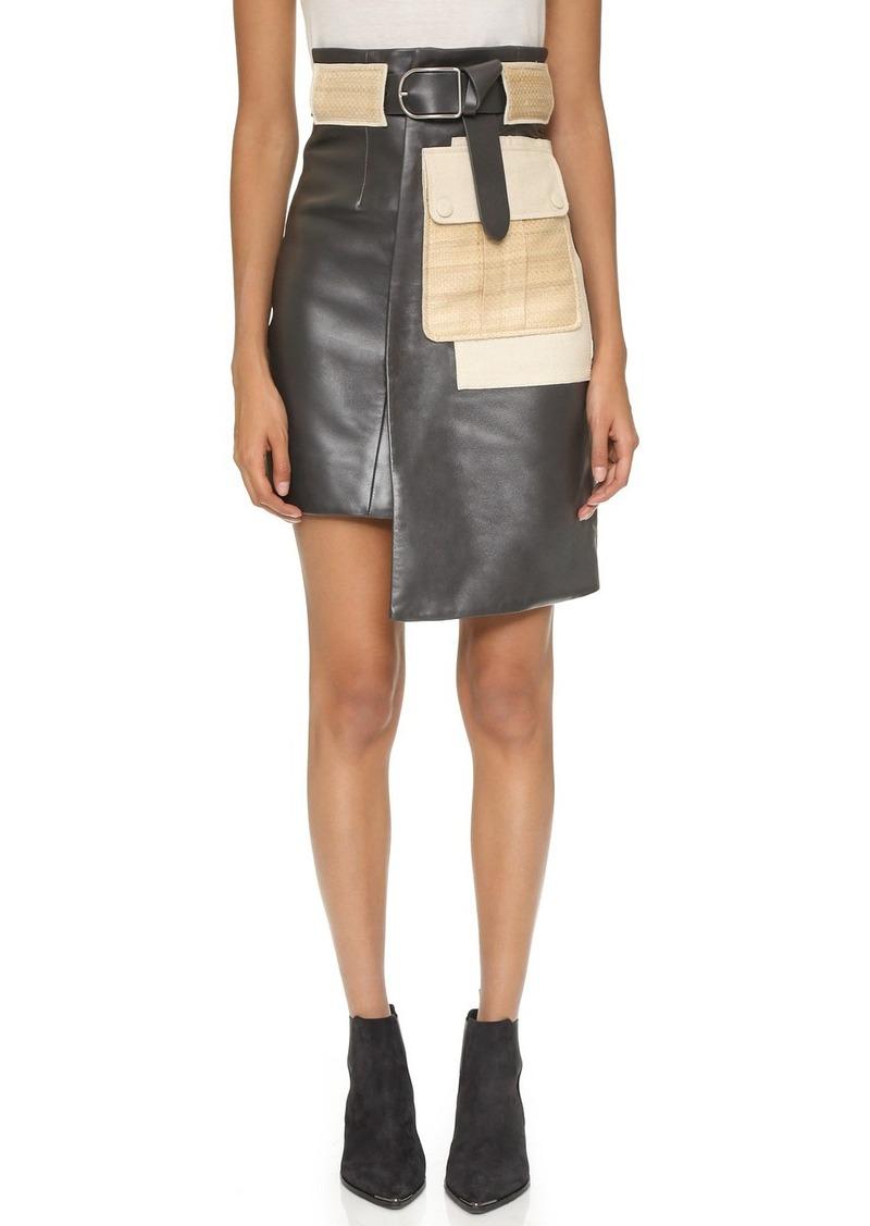 acne acne studios leino leather skirt skirts shop it to me