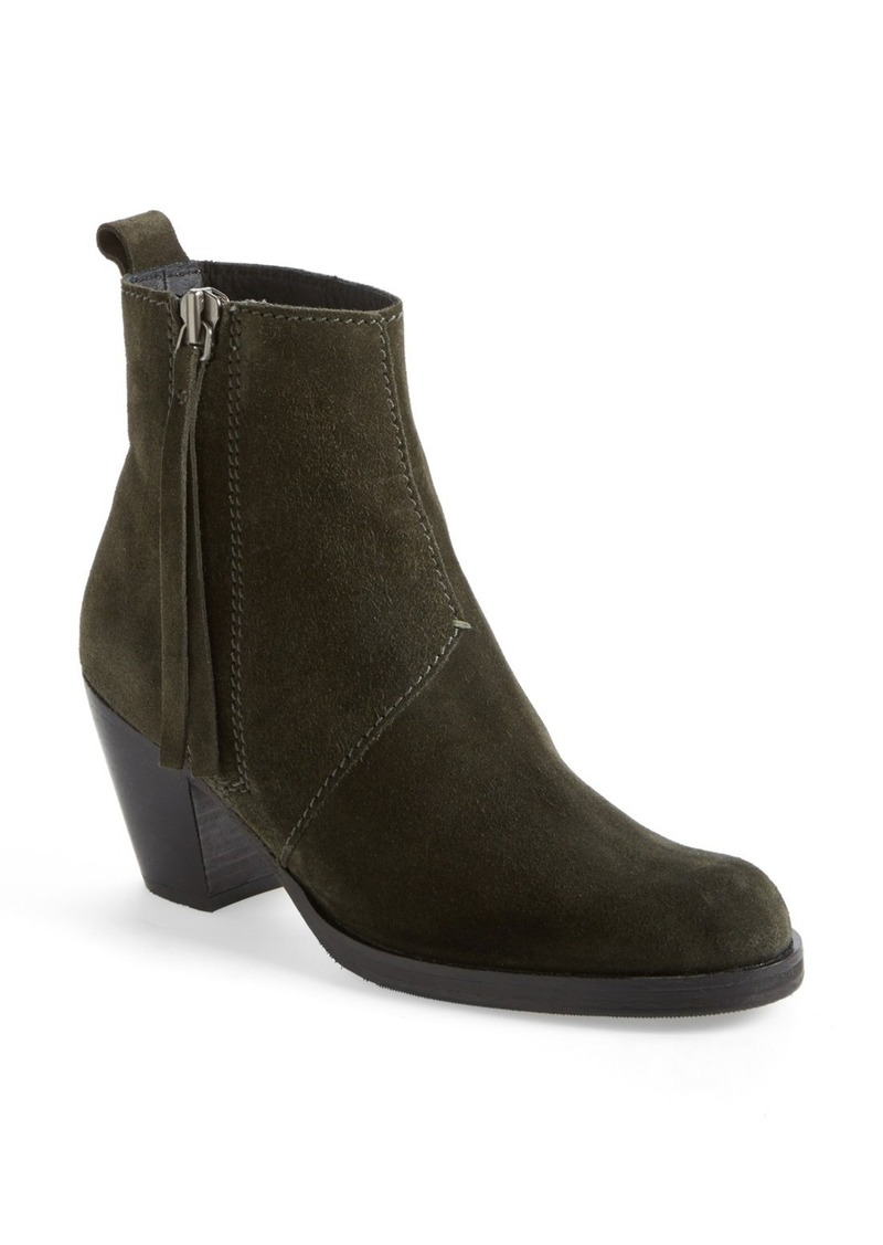 acne studios 39 pistol 39 suede bootie women shop it to me all sales in one place shop it to me. Black Bedroom Furniture Sets. Home Design Ideas