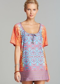 Nanette Lepore Bejeweled Jersey Cover Up Tunic