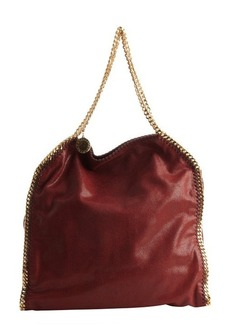 Stella McCartney bordeaux faux leather oversized 'Falabella' hobo bag