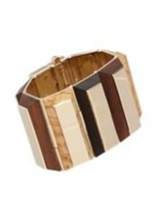 Givenchy Wood & Metal Bracelet