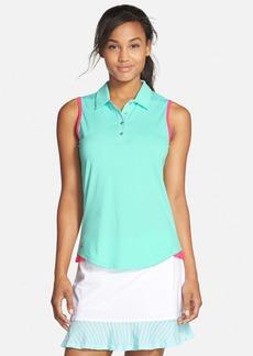 adidas 'Essentials' 3-Stripes Sleeveless Polo