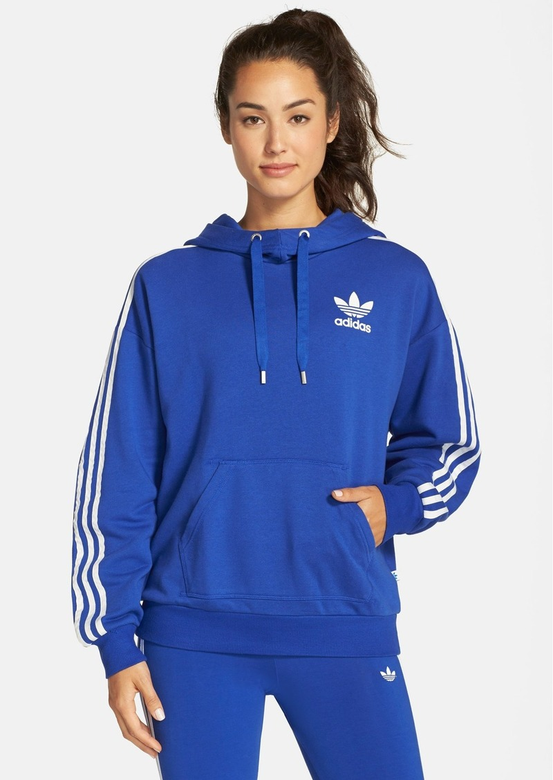 adidas adidas originals 3 stripes pullover hoodie. Black Bedroom Furniture Sets. Home Design Ideas