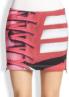 adidas Originals by Mary Katrantzou Side-Zip Sneaker-Print Mini Skirt