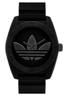 adidas Originals 'Santiago' Silicone Strap Watch, 42mm
