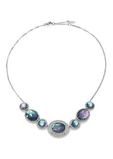 Adriana Orsini Abalone, Clear Quartz & Pavé Sterling Silver Doublet Necklace