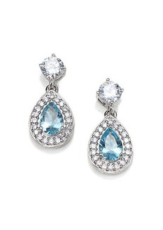 Adriana Orsini Aqua Teardrop Earrings