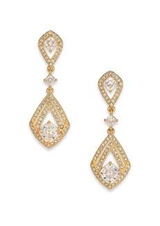 Adriana Orsini Athena Kite Double-Drop Earrings/Goldtone