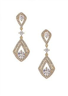 Adriana Orsini Athena Pavé Crystal Kite Drop Earrings/Silvertone