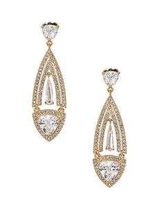 Adriana Orsini Athena Teardrop Earrings/Goldtone