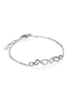 Adriana Orsini Sterling Silver Bezel Station Chain Bracelet