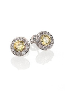 Adriana Orsini Canary Framed Stud Earrings