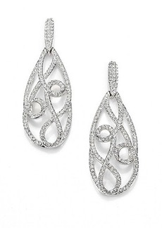 Adriana Orsini Celestial Pave Swirl Drop Earrings