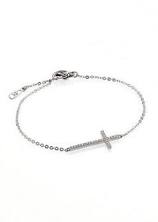 Adriana Orsini Cross Pavé & Sterling Silver Bracelet