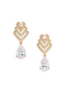 Adriana Orsini Decadence Deco Pear Drop Earrings/Goldtone