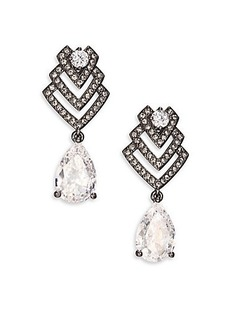 Adriana Orsini Decadence Deco Pear Drop Earrings/Gunmetal-Tone