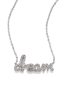 "Adriana Orsini ""Dream"" Pavé Sterling Silver Necklace"