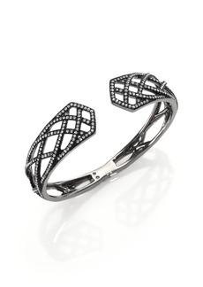 Adriana Orsini Elevate Pavé Crystal Bangle Bracelet/Gunmetal-Tone