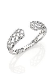 Adriana Orsini Elevate Pavé Crystal Bangle Bracelet/Silvertone