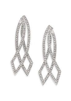 Adriana Orsini Elevate Pavé Crystal Double-Sided Drop Earrings