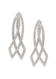 Adriana Orsini Elevate Pavé Crystal Double-Sided Drop Earrings