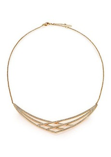 Adriana Orsini Elevate Pavé Crystal Frontal Necklace