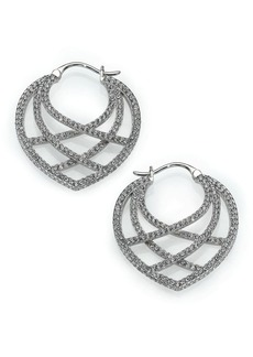 Adriana Orsini Elevate Pavé Crystal Hoop Earrings