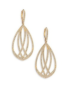 Adriana Orsini Elevate Pavé Crystal Teardrop Earrings