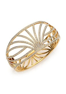 Adriana Orsini Elevate Pavé Crystal Wide Bangle Bracelet